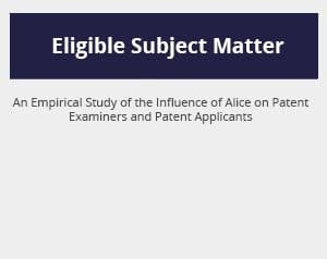 Eligible Subject Matter at the Patent Office