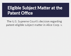 Eligible Subject Matter at the Patent Office: An Empirical Study of the Influence of Alice on Patent Examiners and Patent Applicants